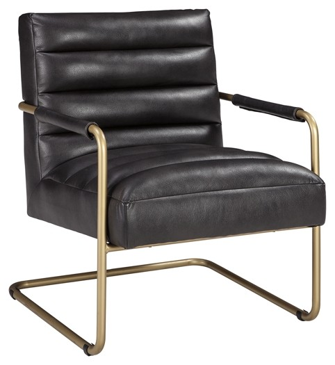 hackley black accent chair a3000024 chairs furniture world