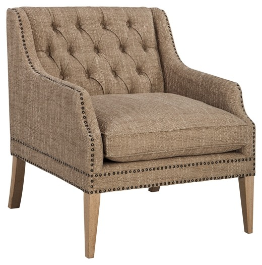 trivia oatmeal accent chair a3000025 chairs furniture