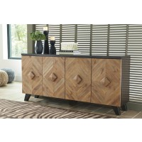 Robin Ridge - Two-tone Brown - Door Accent Cabinet