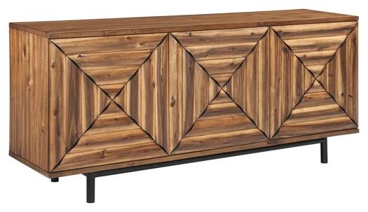 Fair Ridge - Warm Brown - Door Accent Cabinet