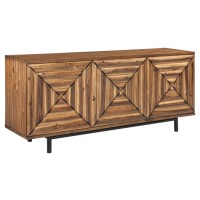 Fair Ridge - Warm Brown - Door Accent Cabinet