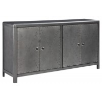 Rock Ridge - Gunmetal Finish - Door Accent Cabinet