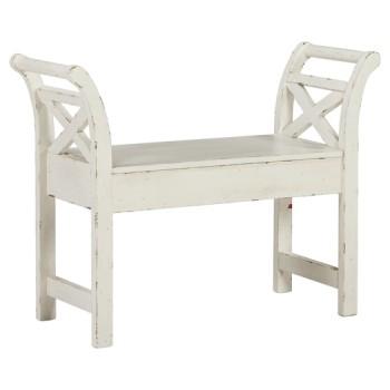 Heron Ridge - White - Accent Bench