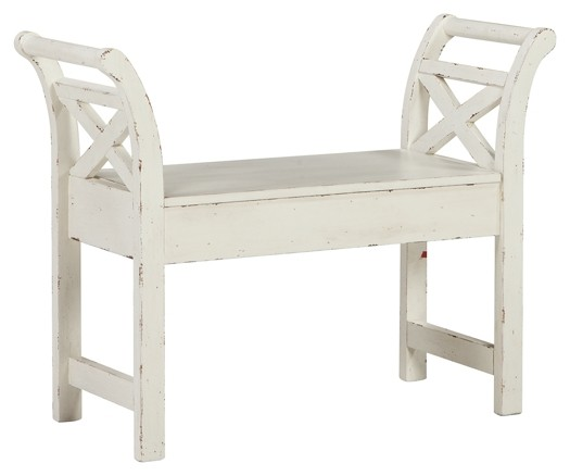 Heron Ridge - White - Accent Bench