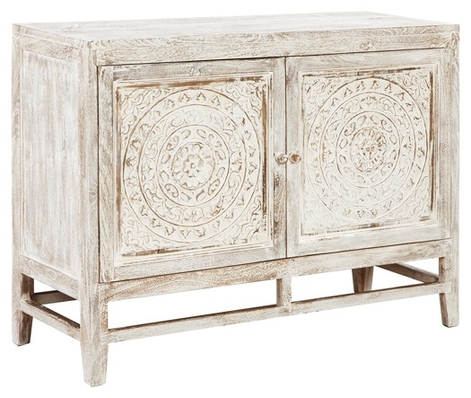 Signature Design By Ashley Fossil Ridge A4000039 Solid: Door Accent Cabinet