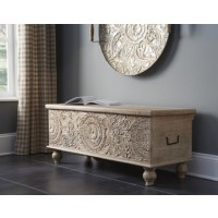 Fossil Ridge - Beige - Storage Bench