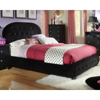 Uph Black Hdbd/ftbd, W/pillows, 3/3