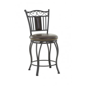STEVE SILVER CO. Barbara Jumbo Swivel Bar Chair