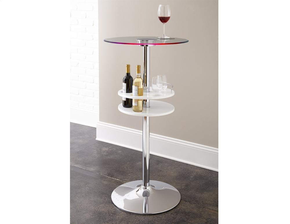 STEVE SILVER CO. Crystal Bar Table, Black, 24