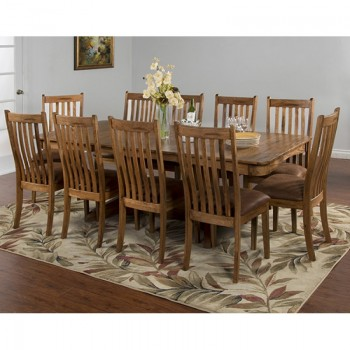 SUNNY DESIGNS Sedona Trestle Table W/ 2 Leaves