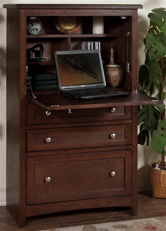 SUNNY DESIGNS Cappuccino Laptop Armoire