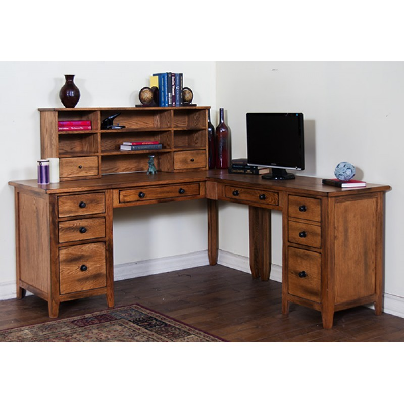 SUNNY DESIGNS Sedona L-shape Desk Set, 5pc/set