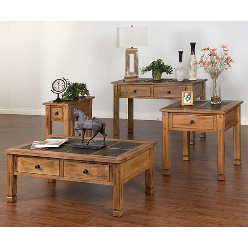 SUNNY DESIGNS Sofa/console Table W/slate Top
