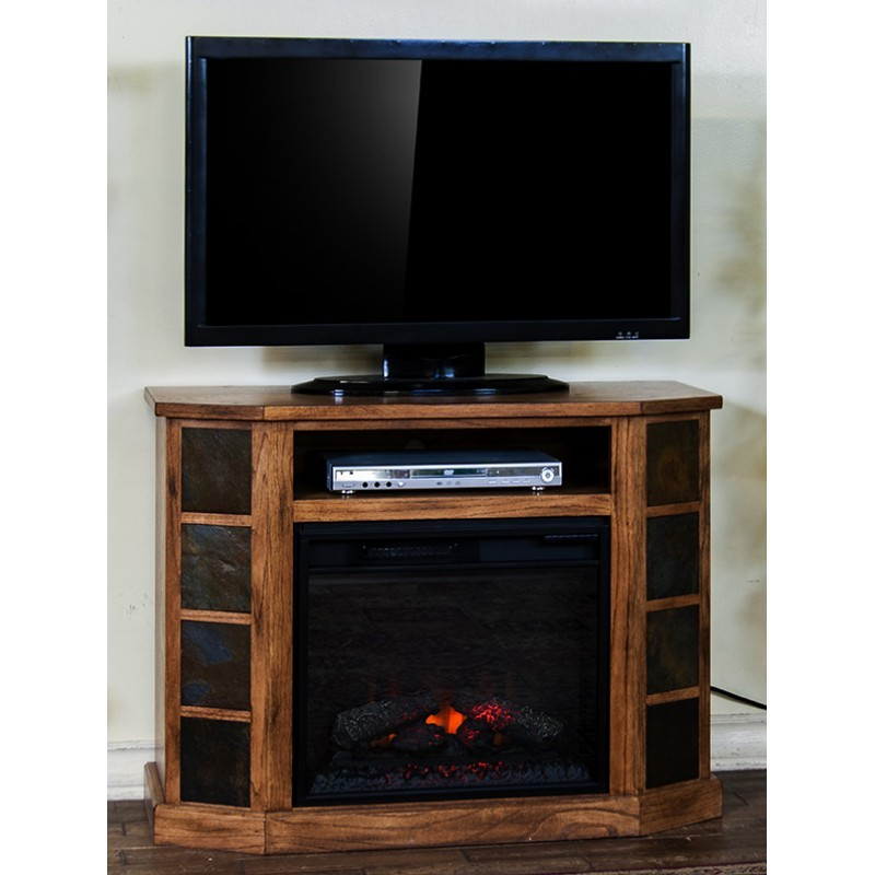 Sunny Designs Sedona Fireplace Console 3514ro42 Tv Stand