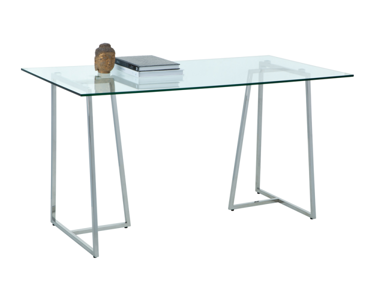 Chiswick Writing Desk - Stainless Steel