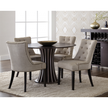 Aziz Round Dining Table - Espresso