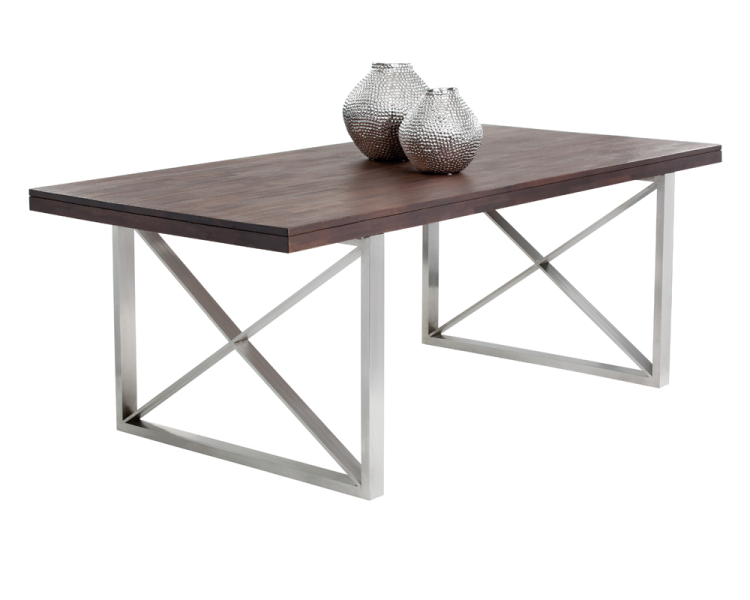 Catalan Dining Table - Brown