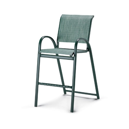 Aruba Sling Stacking Bar Height Cafe Chair