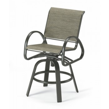 Aruba Sling Counter Height Swivel Cafe Chair