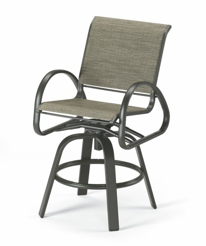 Aruba Sling Counter Height Swivel Cafe Chair