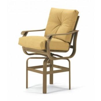 Villa Cushion Bar Height Swivel Chair