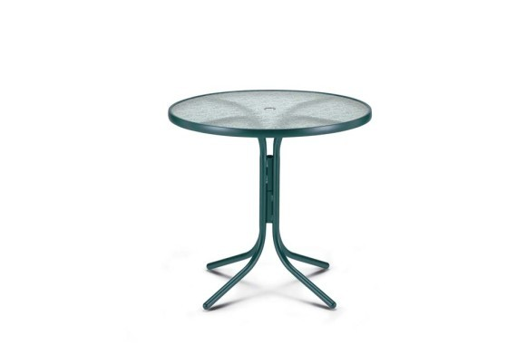 36 Round Balcony Height Table W Hole 5250acr Patio Furniture