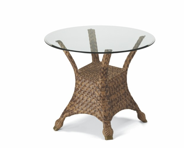 ... Round Glass Top Wicker Bistro Table. 30