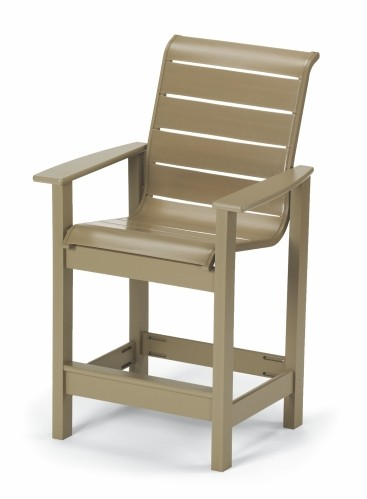 Leeward Strap Counter Height Stationary Chair