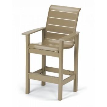 Leeward Strap Bar Height Stationary Chair