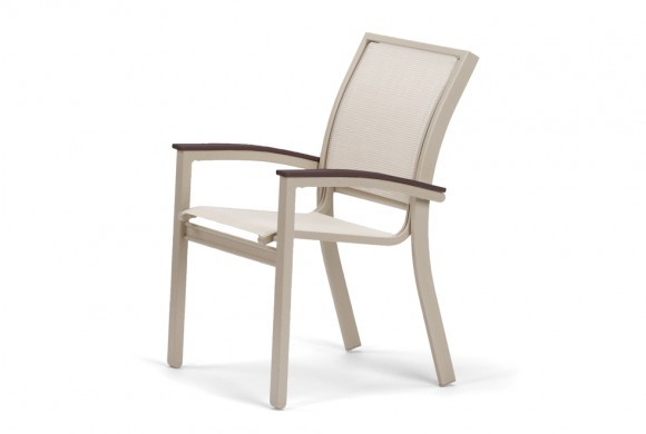 Stacking Cafe Chair w/MGP Mahogany Accents