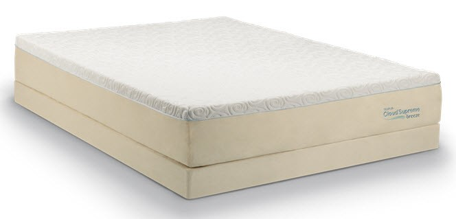 Tempur Pedic Cloud Collection Supreme Breeze Queen Tempurcloudsupremebreezequeen Pillow Top Mattresses Abe Krasne Home