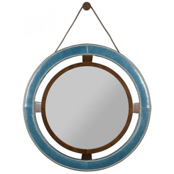 L9400-MI Robineau Road Upholstered Round Mirror