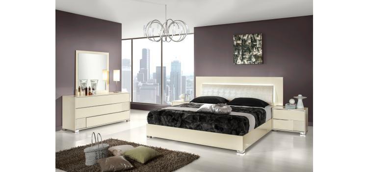 Modrest Grace Italian Modern Beige Bedroom Set ...