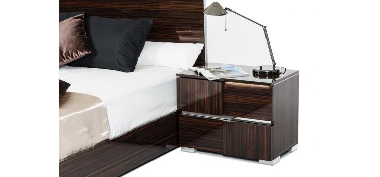 Modrest Picasso Italian Modern Ebony Lacquer Bedroom Set ...