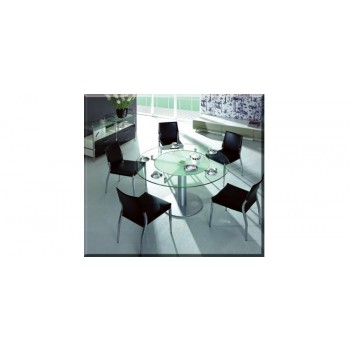 Modrest CT50 Modern Round Glass Table