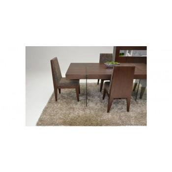 Modrest Aura - Modern Floating Tobacco Dining Table