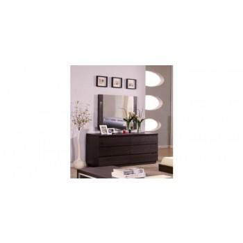 Modrest Capri Modern Wenge Double Dresser w/ Mirror