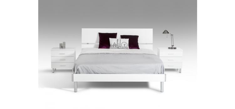 Modrest Bravo Modern White Queen Bedroom Set | VGDEBRAVOQWHTSET ...