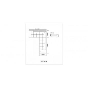 Divani Casa 2226 Contemporary White Leather Sectional Sofa