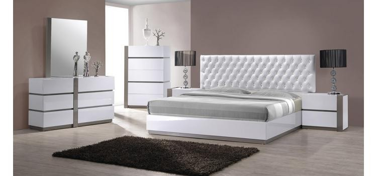 Modrest Vero - Modern White Tufted Bedroom Set | VGKBVERO ...
