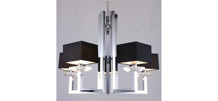 Modrest Imogen Modern Chrome and Black Chandelier Lamp