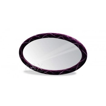 A&X Palace - Purple Fabric Oval Mirror