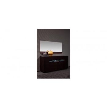 Modrest Ceres - Modern Brown Oak Bedroom Mirror