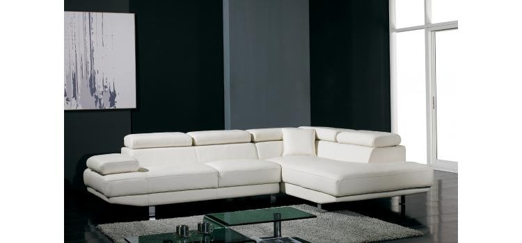 Excellent Divani Casa T60 White Bonded Leather Sectional Las Vegas Ocoug Best Dining Table And Chair Ideas Images Ocougorg