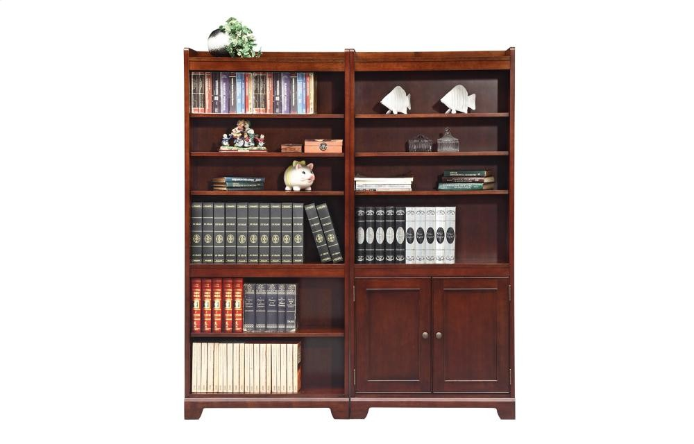 Winners Only 72 Open Bookcase And Bookcase With Doors Gc23272b