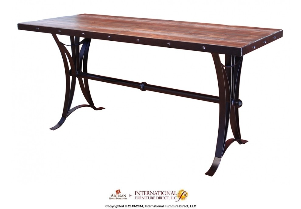 Counter Height Dining Table W Iron Base IFD963COUNTMC