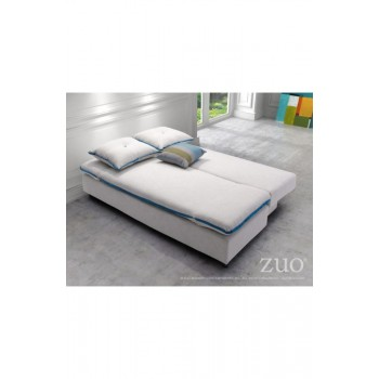 ZUO MODERN Serenity, Natural with Blue Piping