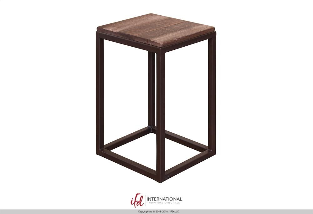 Wooden chair side Modern Bent Wood Chair Side Table Wwooden Top Iron Base Naturally Wood Furniture Chair Side Table Wwooden Top Iron Base Ifd959cst Chair Side