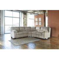 Dailey - Alloy - RAF Loveseat with Half Wedge