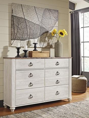 Willowton - Whitewash - Dresser